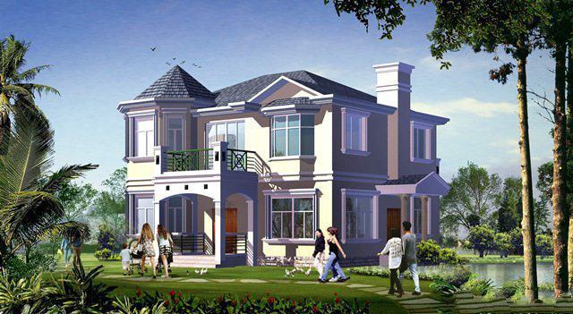 乡村两层建筑设计