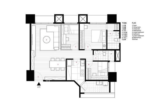 北欧式的三居室装饰效果图