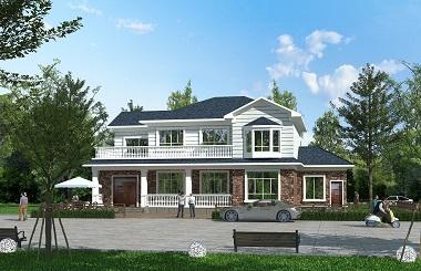 二层海滨别墅设计图,简单有好看的小二层自建房屋