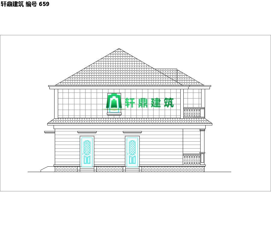 清新小二层自建别墅设计施工图03.jpg