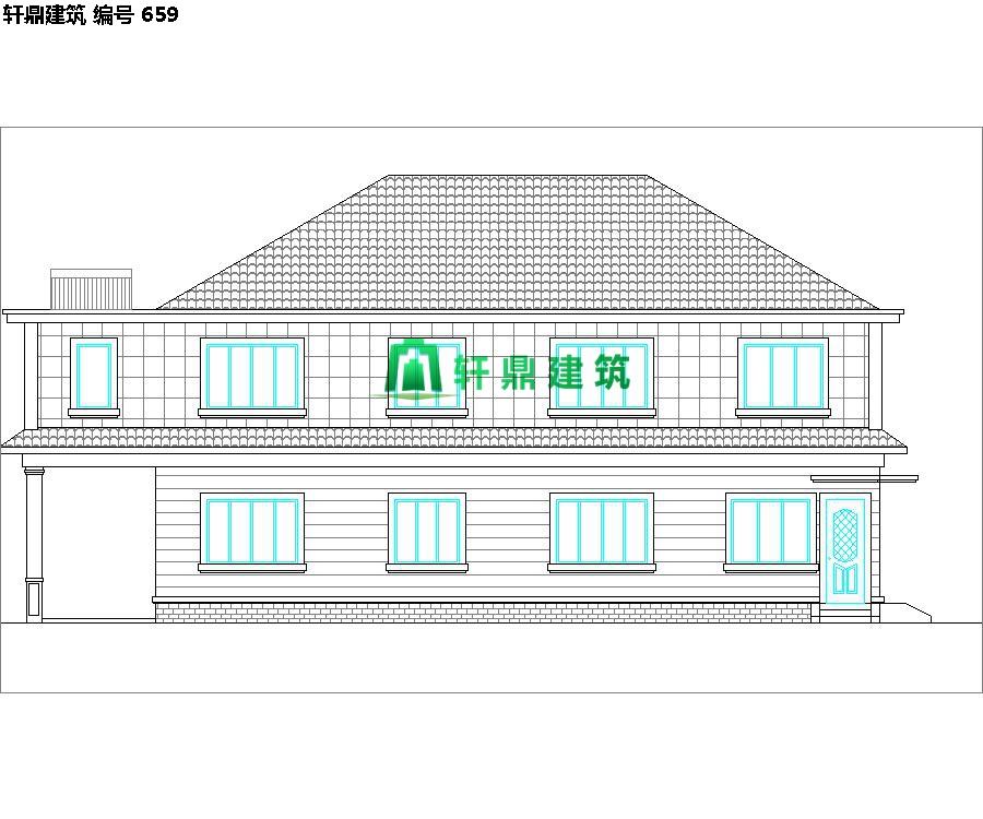 清新小二层自建别墅设计施工图02.jpg