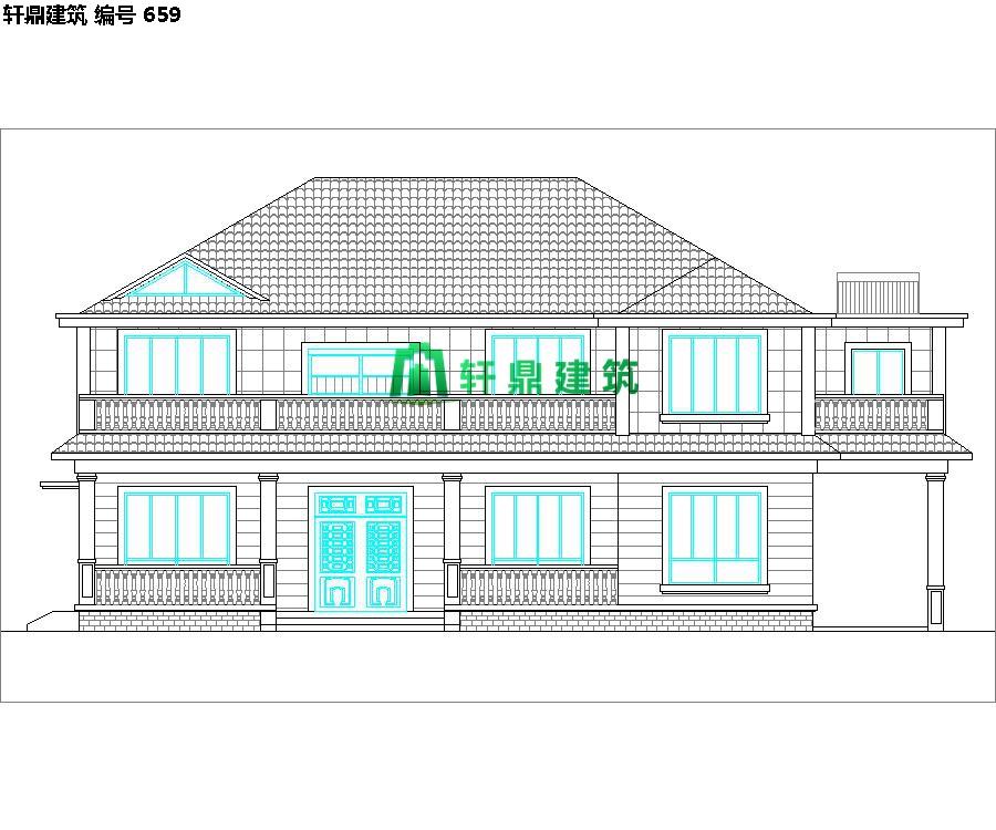 清新小二层自建别墅设计施工图01.jpg