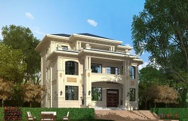 精品欧式三层农村自建房屋设计图,复式别墅设计