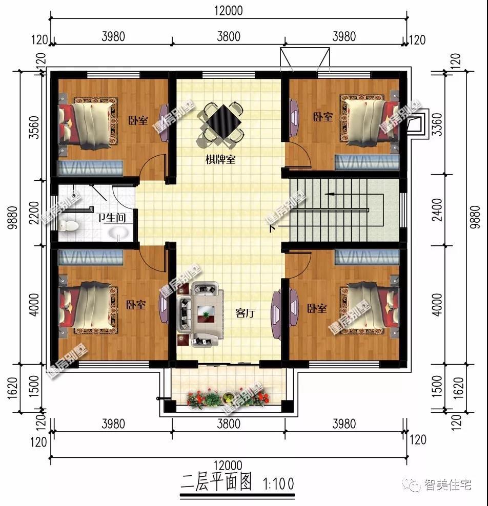 二层别墅户型
