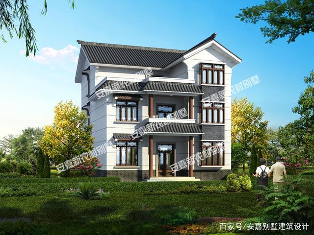 中国文化源远流长,世代相传。三层中式别墅,中式风格浓厚,经久不衰