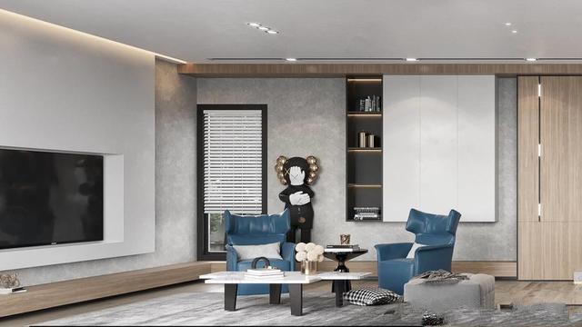 现代简约风格两层别墅效果图,很多人梦中的居所!