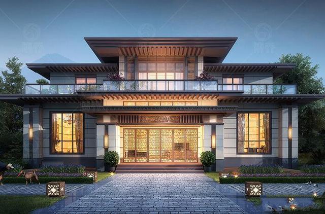 在农村建房时,为什么许多人选择中式别墅?看完这房子你就会知道了!