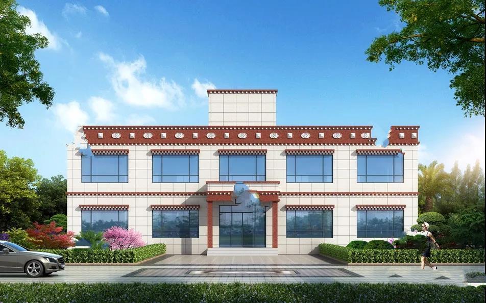 一个两层平屋顶设计的寄宿家庭,共有18个房间,在家乡有一块非常好的土地就太棒了!