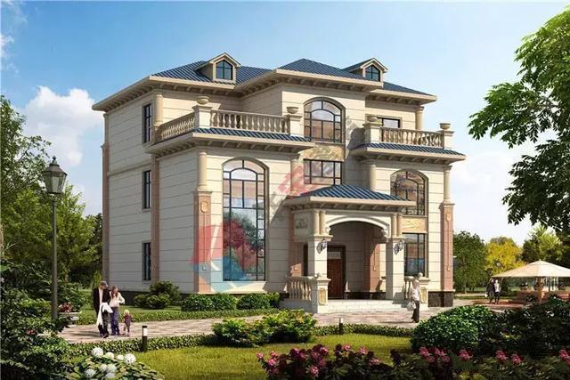 2020年热销农村三层自建别墅设计图纸,充满设计感,建得很有面子!