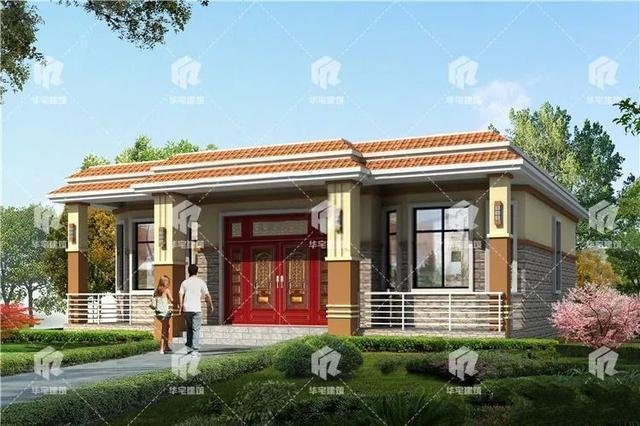 该村一层平顶别墅的设计图纸售价10万元,父母生活无忧!