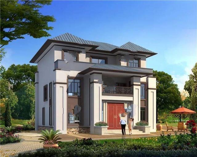 8栋新中式别墅设计效果图。住在这么漂亮的房子里叫做享受生活!