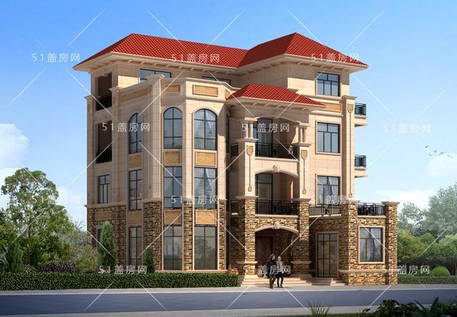 农村豪华四层独户别墅设计图