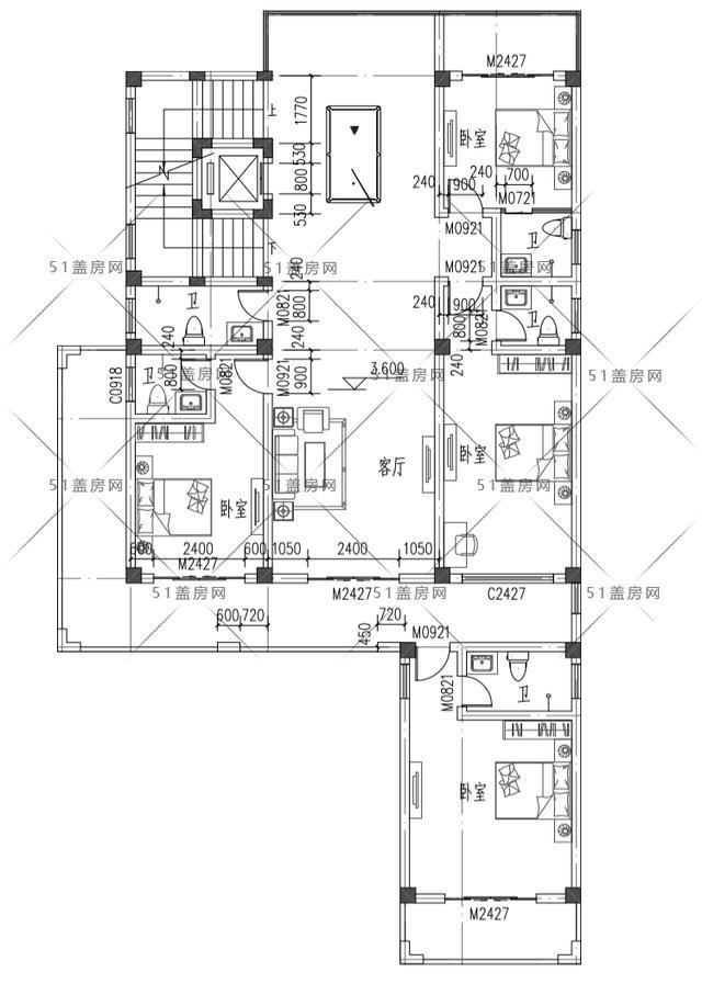 两层半的别墅效果图